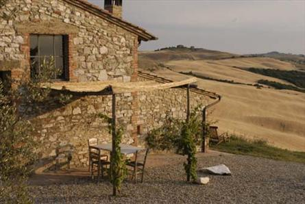 apartment with landscape in tuscany