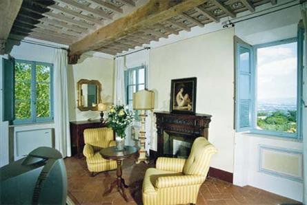 tuscan suite with fireplace in country hotel